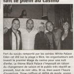 Article Nice-Matin Black Palace